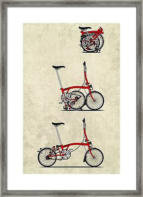 Brompton Bicycle Framed Print by Andy Scullion