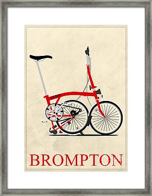 Brompton Bike Framed Print by Andy Scullion