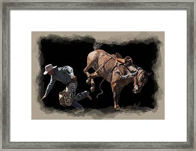 Bronco Busted Framed Print