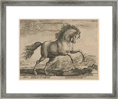 Bronco, Hendrick Goltzius, Philips Galle Framed Print