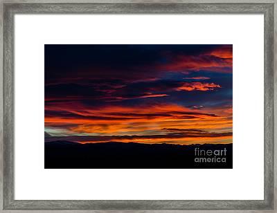 Bronco Sunset Framed Print