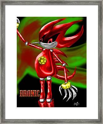 Bronic Char Poster Framed Print