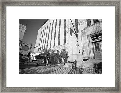 Bronx House Of Detention Framed Print by Dave Beckerman