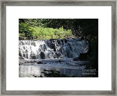 Bronx River Waterfall Framed Print