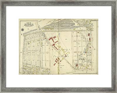 Bronx, V. 3, Double Page Plate No. 26 Map Bounded By West Framed Print by Litz Collection