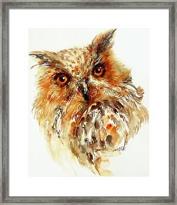 Bronzai The Owl Framed Print