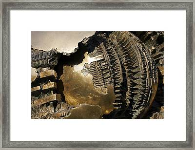 Bronze Abstract Framed Print