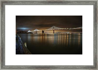Bronze And Gold Framed Print by Peter Thoeny