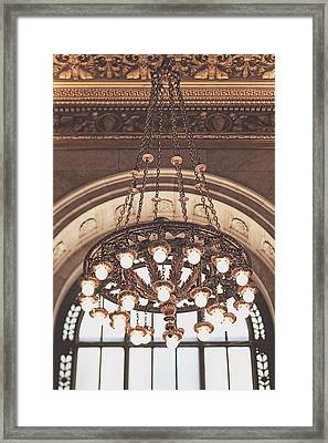 Framed Print featuring the photograph Bronze Chandelier by Heather Green