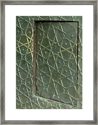 Bronze Door In A Door Framed Print by Russell Smidt