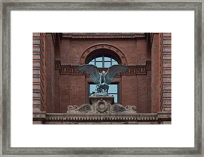 Bronze Eagle - Omaha Building Framed Print by Nikolyn McDonald