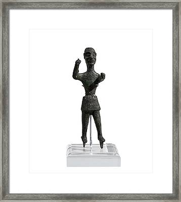 Bronze Figurine Of Baal Framed Print by Science Photo Library