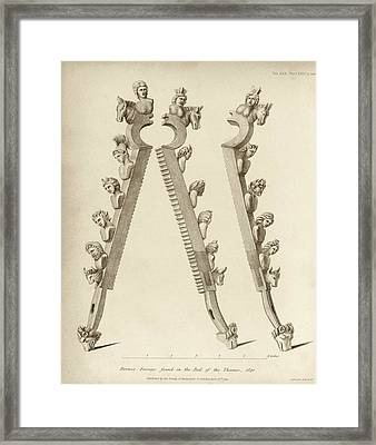 Bronze Forceps Found In The Thames Framed Print