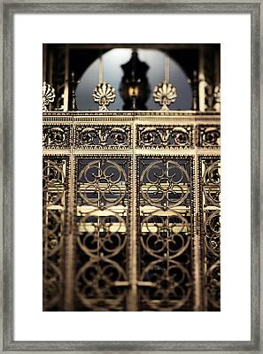 Framed Print featuring the photograph Bronze Gate by Heather Green