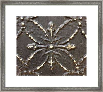 Bronze Framed Print by M West