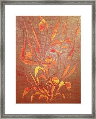 Bronze Framed Print by Nico Bielow