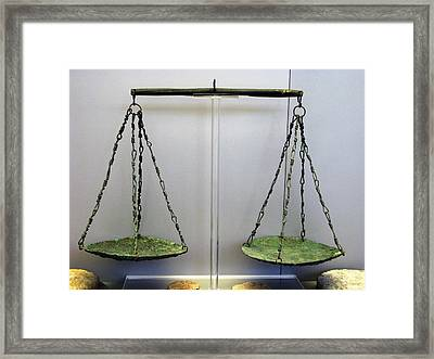 Bronze Scale Framed Print by Andonis Katanos
