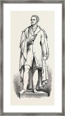 Bronze Statue Of Lord George Bentinck, Cavendish Square Framed Print by Campbell, English School, 19th Century
