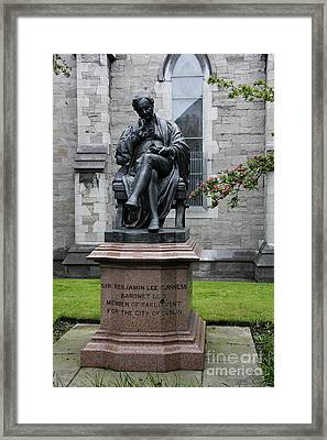 Bronze Statue Of Sir Benjamin Lee Guinness  Framed Print by Christiane Schulze Art And Photography