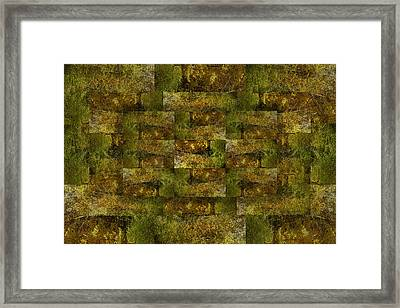 Framed Print featuring the digital art Bronze Weave by Tom Romeo