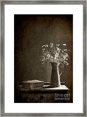 Bronze Wild Garden Framed Print by Sari Sauls