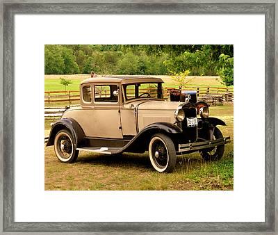 Bronzed Model A Framed Print