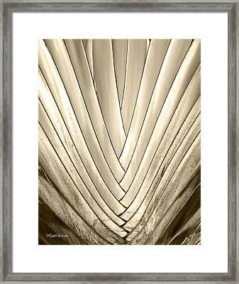 Bronzed Palm Framed Print