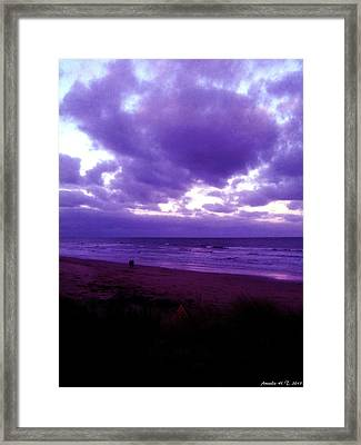 Brooding Clouds II Framed Print by Amanda Holmes Tzafrir