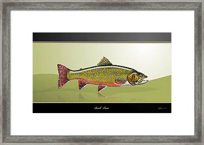 Brook Trout Framed Print by Serge Averbukh