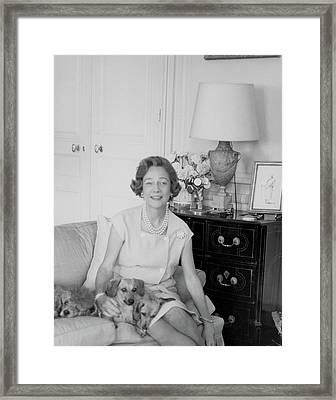 Brooke Astor With Dogs Framed Print