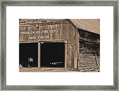 Brooklyn Alabama Fire Dept Framed Print by JC Findley