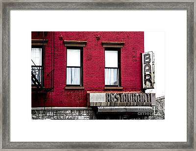 Brooklyn Bar Framed Print by Diane Diederich