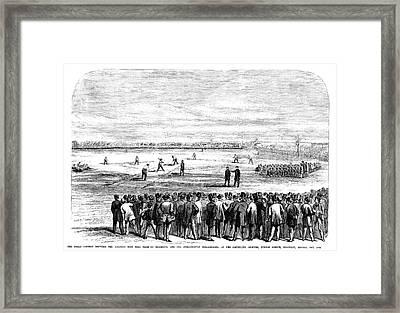 Brooklyn Baseball, 1866 Framed Print