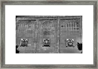 Brooklyn Battery Tunnel Framed Print by Dan Sproul