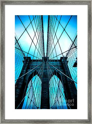 Brooklyn Blues Framed Print