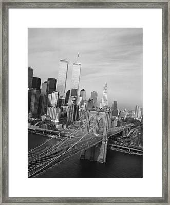 Brooklyn Bridge, 1991 Framed Print