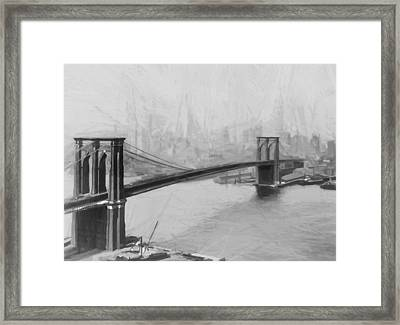 Brooklyn Bridge 2 Framed Print by Steve K