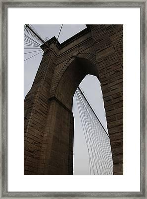 Brooklyn Bridge 2851 Framed Print by Deidre Elzer-Lento