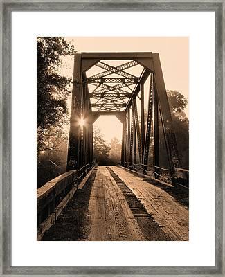 Brooklyn Bridge 3 Framed Print by JC Findley