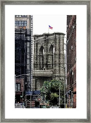 Brooklyn Bridge 7 Framed Print by Bob Stone