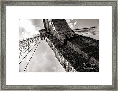 Framed Print featuring the photograph Brooklyn Bridge by Angela DeFrias