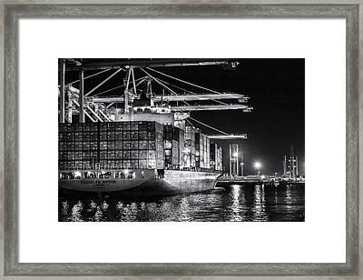 Brooklyn Bridgebw By Denise Dube Framed Print