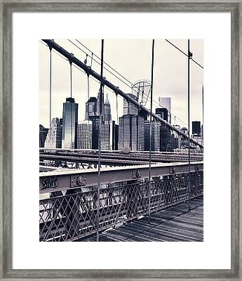 Brooklyn Bridge Framed Print by CD Kirven