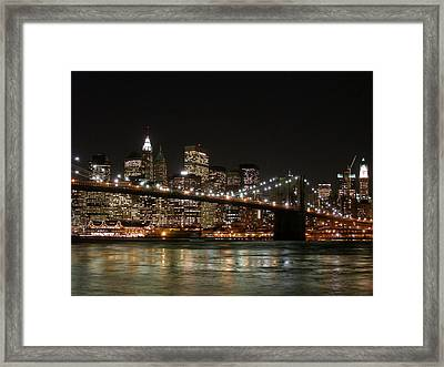 Brooklyn Bridge Framed Print by George Inness
