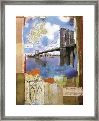 Brooklyn Bridge II Framed Print by Andrew Sullivan