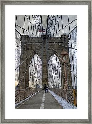 Framed Print featuring the photograph Brooklyn Bridge by Jerry Gammon