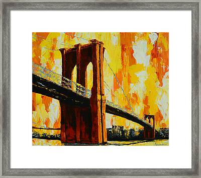 Brooklyn Bridge Landmark Framed Print by Patricia Awapara