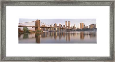 Brooklyn Bridge Manhattan New York City Framed Print