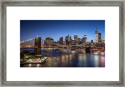 Brooklyn Bridge Framed Print by Mihai Andritoiu