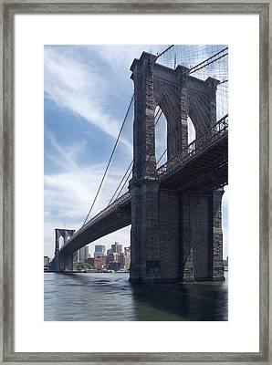 Brooklyn Bridge Framed Print by Mike McGlothlen